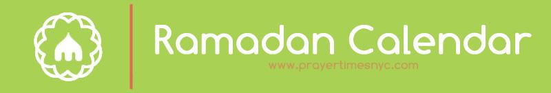 Ramadan 2020 Calendario.New York Ramadan Calendar 2020